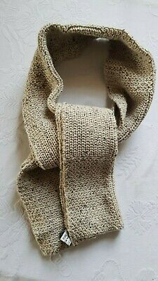 Joseph homme scarf Cream + brown flecked  Wool knit. VGC. UK made