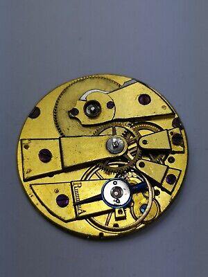 Early Antique Swiss Cylinder Pocket Watch Movement for Repair (B63)