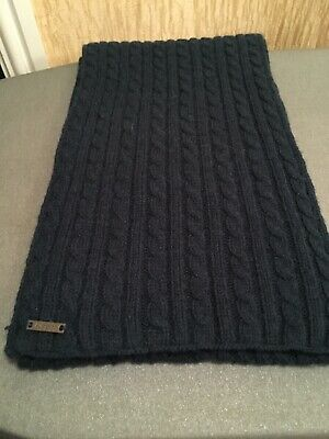 *NEW* Mens Autograph Marks & Spencer Navy Scarf.