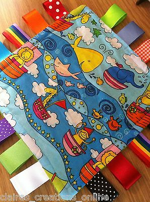 Sea Themed Baby/Toddler Taggy Blanket/Comforter/Gift