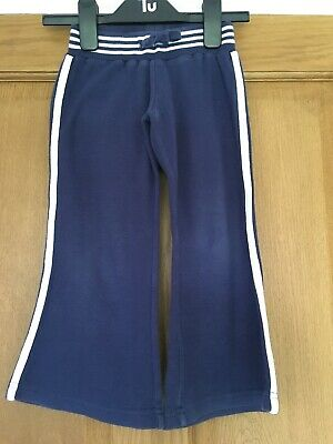 Blue Jogger Sports Trousers Age 3 Years VGC Cotton Flared TU Girls Unisex