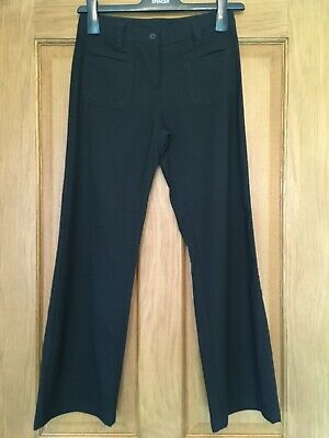 Black School Trousers Age 11 Years Straight Leg VGC M&S Girls Traditional Flared