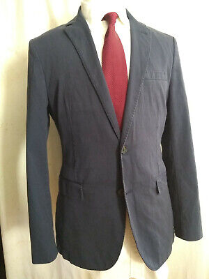 NWOT Brooks Brothers Red Fleece Navy Blue 2 Button Cotton Blazer 40R MSRP $358