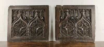 A Pair Of 16th Century Gothic Oak Panels.