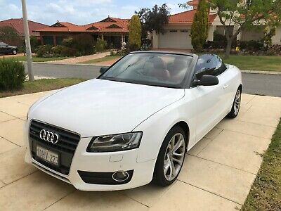 2010 Audi A5 2.0 TFSI Quattro 8T Automatic SoftConvertible Red Leather Interior