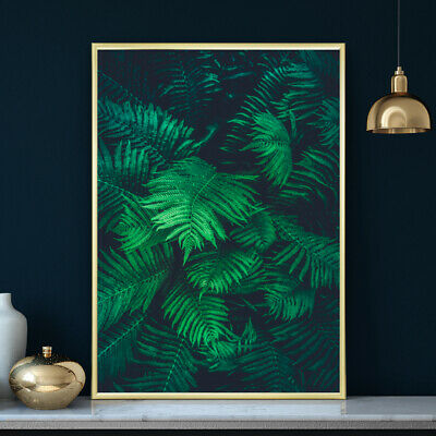 Botanical Fern Wall Art Tropical Leaf Bedroom Living Room Print Poster A4 to A1