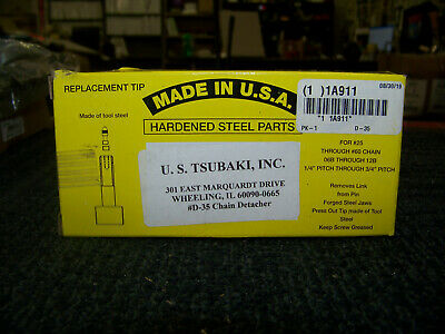 U.S. Tsubaki Chain Detacher Type 25-60 For Use with Roller D-35 New