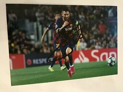 LIONEL MESSI BARCELONA autographed 6X4 photo signed