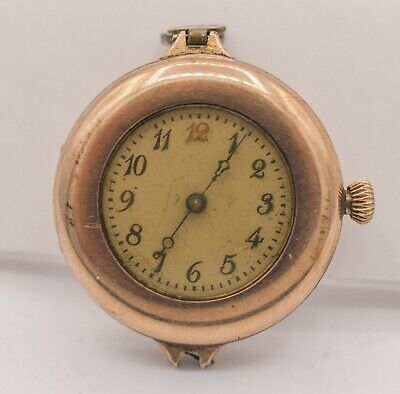 1912 - Waltham Watch Co. 0s 7j GF  Arabic Numeral Wrist Watch - Does Not Run