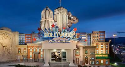2 x gift  certificates Hollywood Wax Museum (Pigeon Forge, TN)