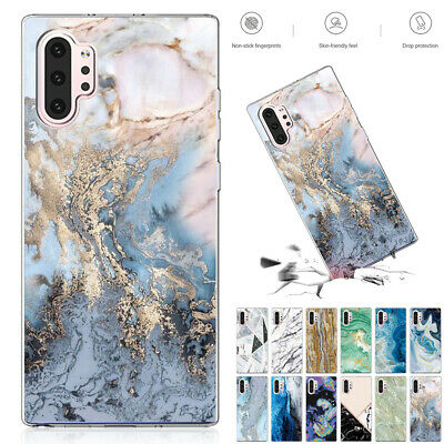 For Samsung Galaxy S10 Plus Note10 S9 Case Marble Slim Soft Rubber TPU Gel Cover