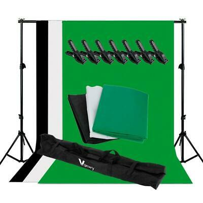 New Studio Backdrop Stand Heavy-Duty Video Photo Background Support KIT+Clamps