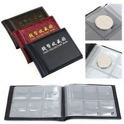 Collecting Money Penny Pockets 60 Holders Collection Storage Coin Album Book -PN