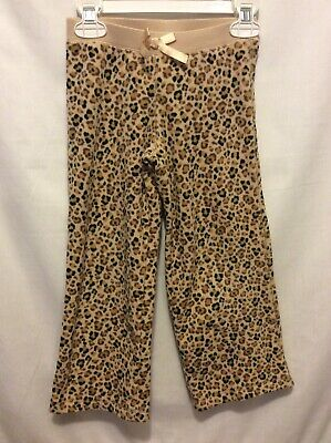 Jumping Beans Girl's Tan Cheetah Print Fleece Pants Size 5 Great Condition