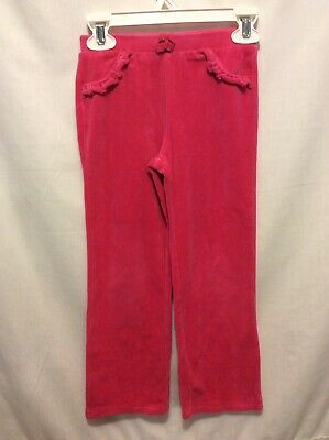 Circo Brand Girl's Solid Bright Pink Velour Pants Size 5T Great Condition