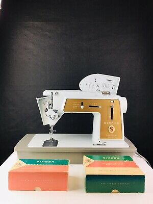 Vintage Singer 603E Touch & Sew Sewing Machine Foot Pedal - Discs & Attachments