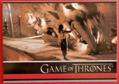 GAME OF THRONES - Season 1 - Card #14 - THE WOLF AND THE LION - Rittenhouse 2012