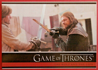 GAME OF THRONES - Season 1 - Card #15 - THE WOLF AND THE LION - Rittenhouse 2012