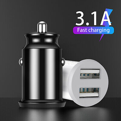 12V 3.1A Car Fast Charger Double USB Twin 2 Port Dual Cigarette Socket Lighter