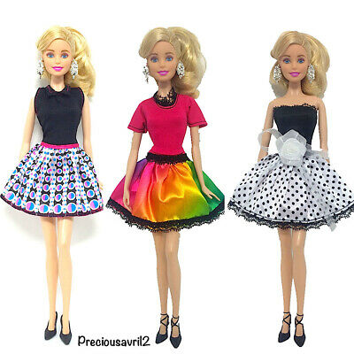 New barbie doll clothes outfit clothing sets set of 3 outfit party mini