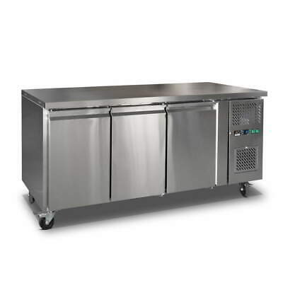 AG 3 Door Worktop Fridge Stainless Steel AG Equipment|