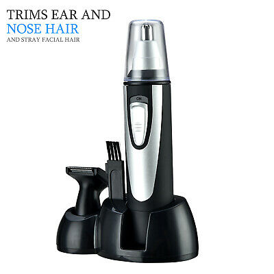 2 in 1 Beard Nose Ear Hair Trimmer Personal Grooming Set Shaver Travel for Man