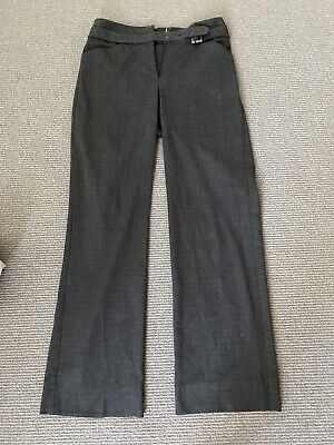 Veronika Maine Brown Check High Waisted  Office Pants | Size 6