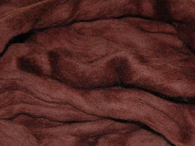 Dark Brown Merino Wool Fibe roving / tops  - 50g- Needle felting / hand spinning