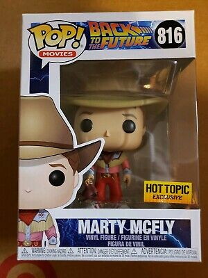 Funko Pop Marty Mcfly cowboy back to the future hot topic exclusive