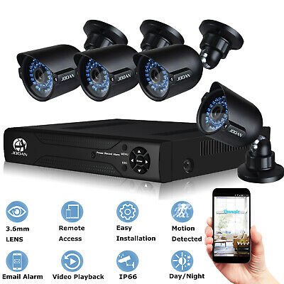 JOOAN CCTV Security Camera System 720P AHD Camera 8CH 1080N DVR NVR Kits Home