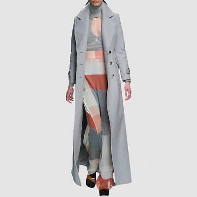 Maxi Long Women High End Cashmere Trench Coat Outerwear Wool Jacket Winter Haihk