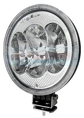 "Led Autolamps 2296Sbm Led 9"" Inch Round Driving Spot Light Spot Lamp + Sidelight"