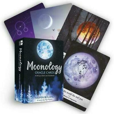 AU Moonology Oracle Cards: A 44-Card Deck and Guidebook by Yasmin Boland Magic