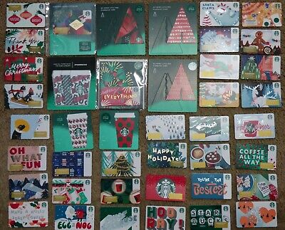 STARBUCKS Gift Card 2019 Christmas / Holiday - LOT of 44 Cards - Collectible