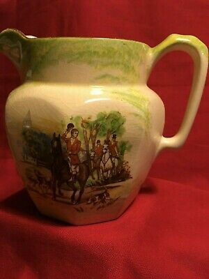 Price Bros Made In England Milk Pitcher Hunting Scene 1934-61 VeryGoodCondition