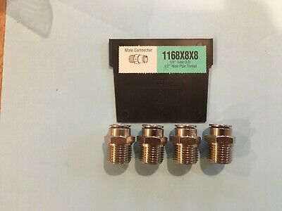 "Weatherhead  1168X8X8 1/2"" Tube X 1/2 Npt Push To Connect Lot 4 Fitting"