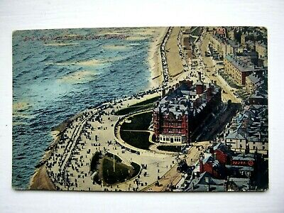 Nice Old Postcard -Birds Eye View Of Blackpool From The Tower  - 1919
