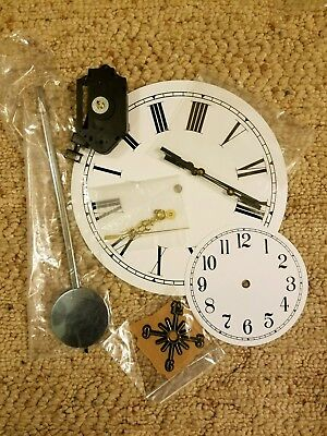 Large Lot of Clock Making Parts - 80+ Dials, Hands, Movements, Decals