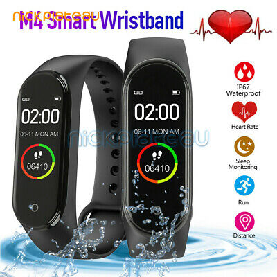 M4 Bluetooth Smart Watch Heart Rate & Blood Pressure Monitor Fitness Tracker
