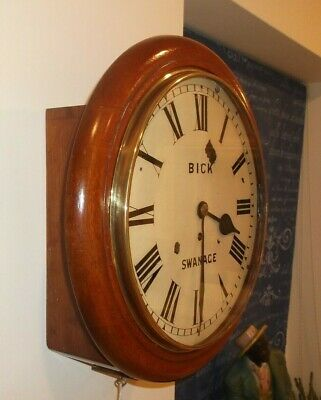 Superb Mahogany Fusee Dial Clock In Perfect Working Order, Looks Stunning !!!!!