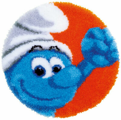 The Smurfs Latch Hook Kit, Shaped Rug - Hefty