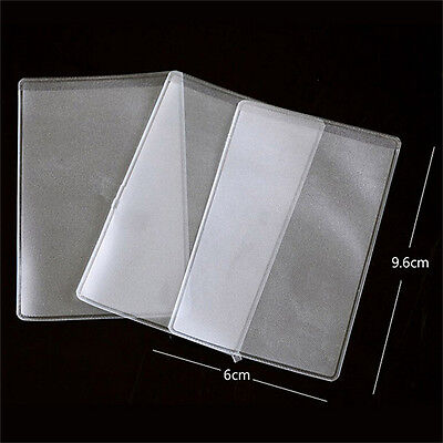 10X PVC Credit Card Holder Protect ID Card Business Card Cover Clear Frosted JMR