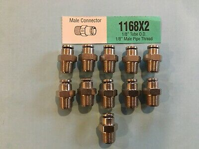 Weatherhead 1168X2 1/8 Tube X 1/8 Npt Male Connector Push To Connect Lot 11