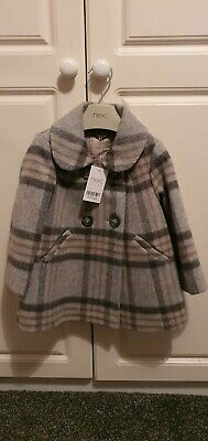 Girls NEXT Winter Coat 1.5/2 yea 18 - 24 months smart check NEW with tags