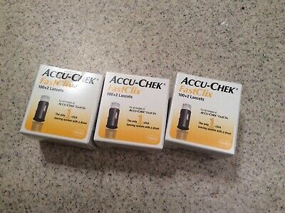 ACCU-CHEK FastClix 100+2 Lancets ( LOT OF 2 BOXES ) Exp : 06/2023