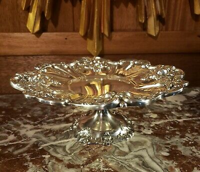 LARGE FRANCIS 1 STERLING SILVER FOOTED CENTERPIECE COMPOTE FRUIT X565 790 grams