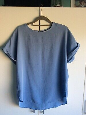 New Look Pale Blue Blouse Size 14 Great Condition