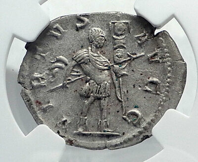 GALLIENUS Authentic Ancient Billon Silver Lyons 258AD Roman Coin NGC i81546