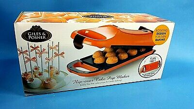 NEW Giles and Posner Flip Cake Pop Maker CHRISTMAS SALE  Orange Non Stick