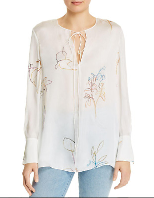 Theory Fluid Silk Tunic MSRP $345 Size P # 6C 972 Blm